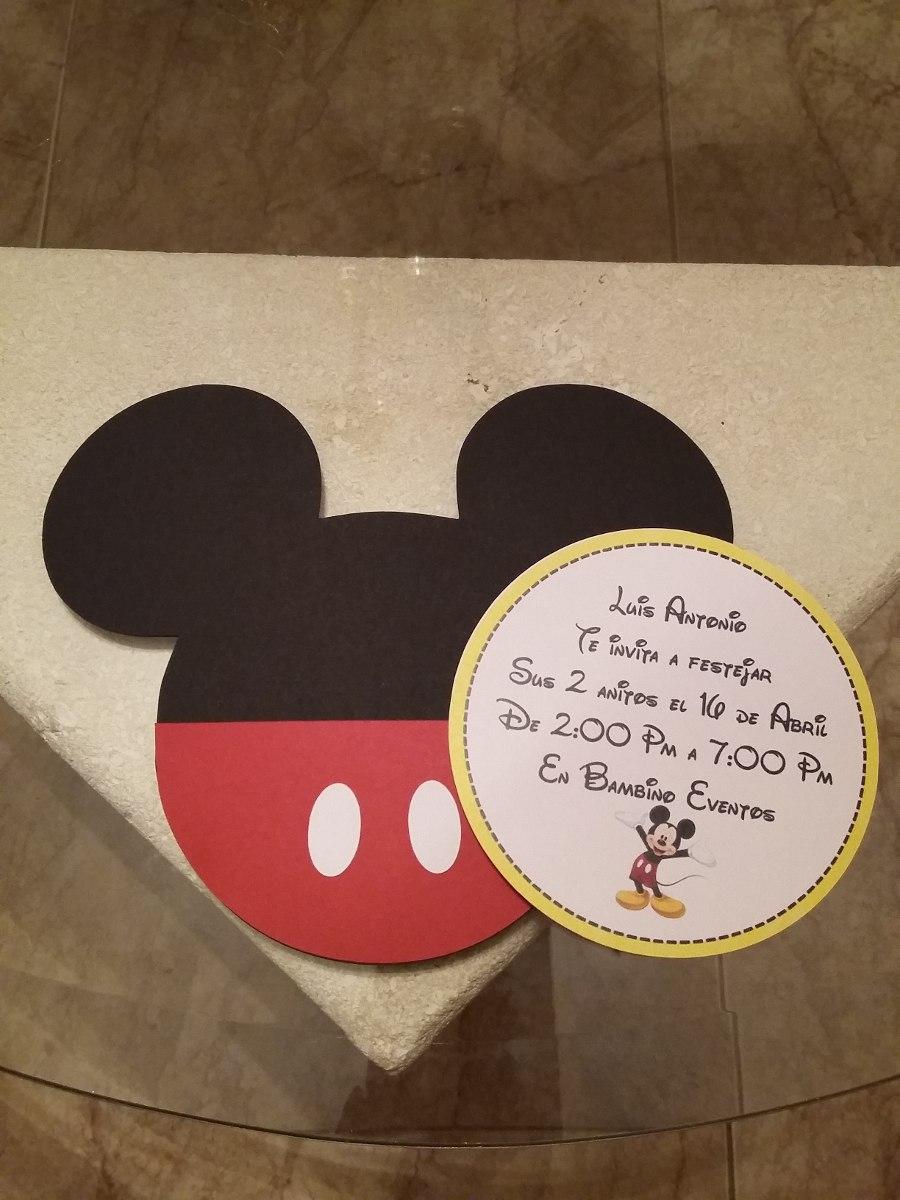 Tarjetas De Invitaci 243 N Mickey Mouse Bs 500 00 En