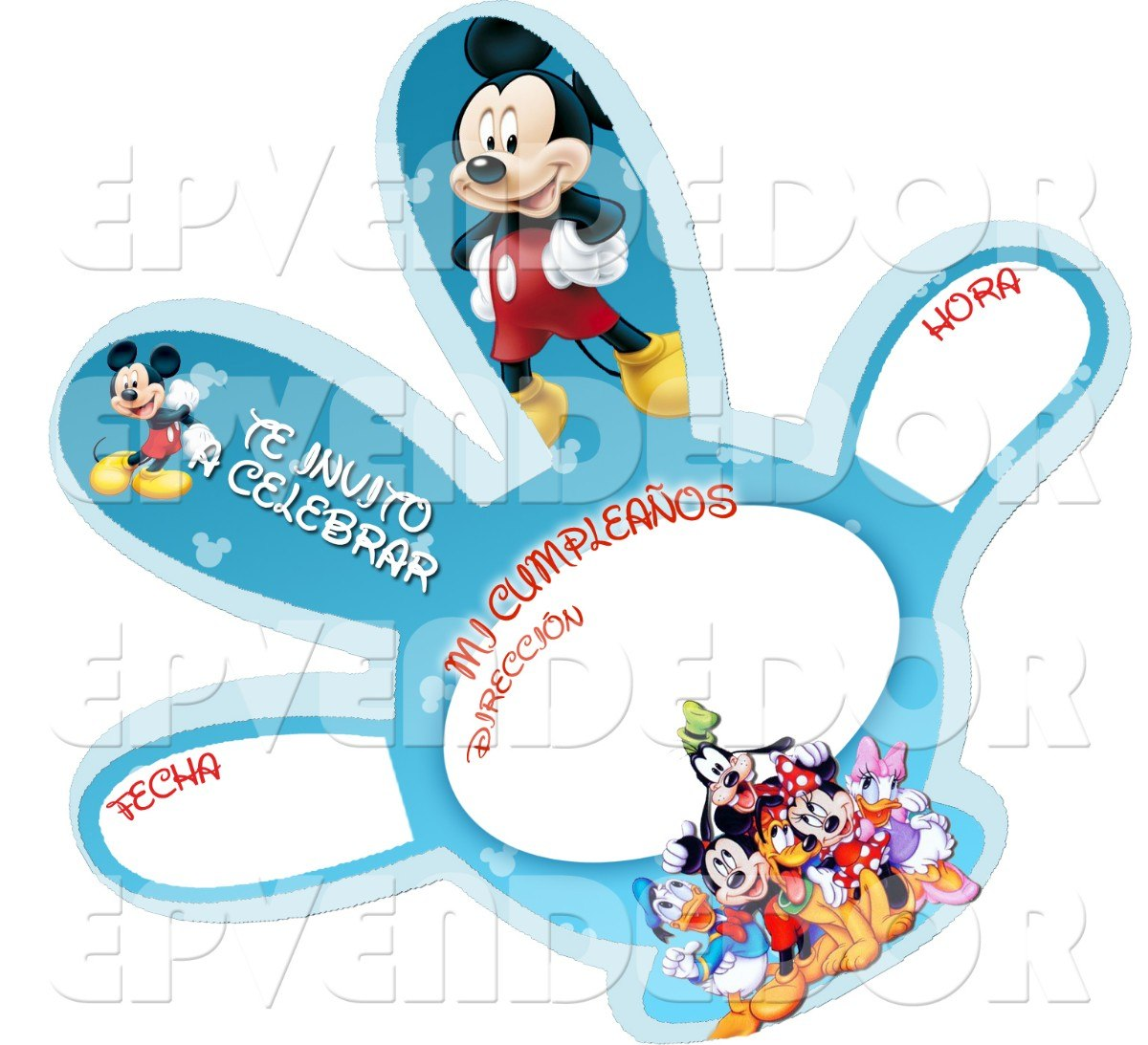 Tarjetas de invitacion mickey mouse invitaciones - Dibujos infantiles originales ...