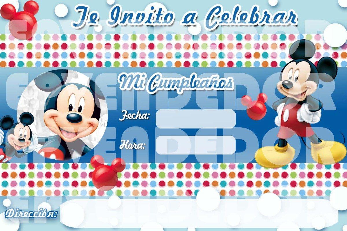 Tarjetas De Invitacion Mickey Mouse Invitaciones Epvendedor