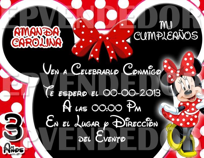 Tarjetas De Invitacion Mickey Y Minnie Mouse Invitaciones