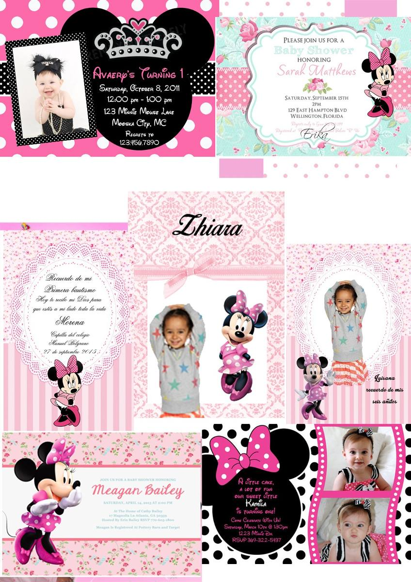 Tarjetas De Invitación Minnie Frozen Peppa X20