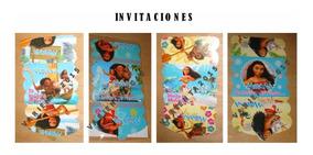 Tarjetas De Invitacion Moana Pocoyo Fiesta Cotillon