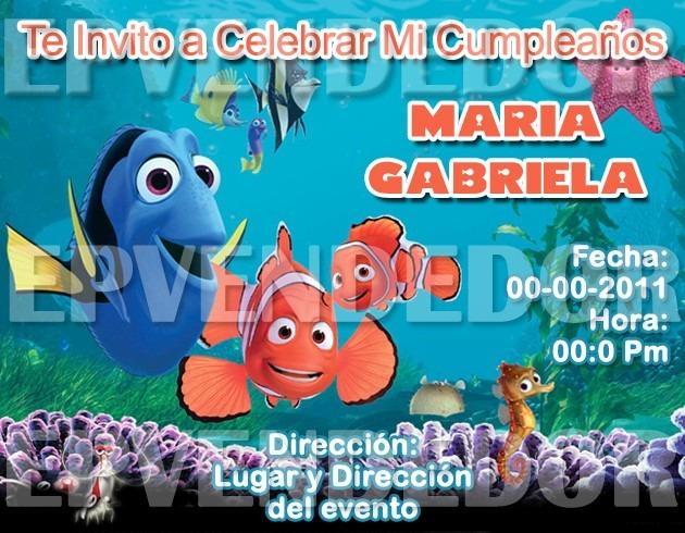 Tarjetas De Invitacion Nemo Invitaciones Epvendedo