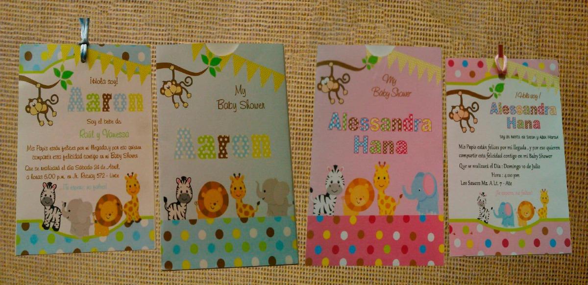 Tarjetas De Invitación Para Baby Shower
