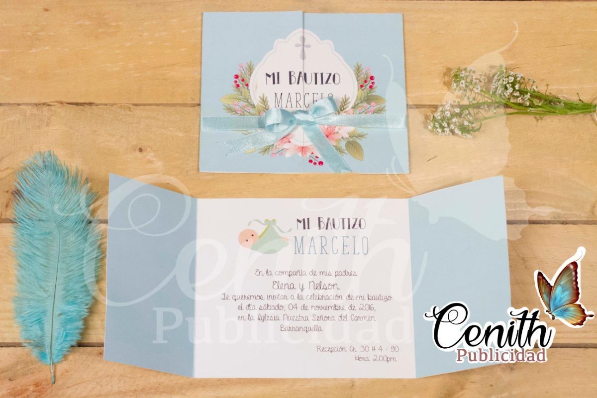 Tarjetas De Invitación Para Bautizo Baby Shower Matrimonio
