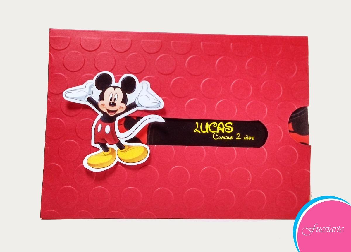Tarjetas De Invitación Para Cumpleaños De Mickey Mouse