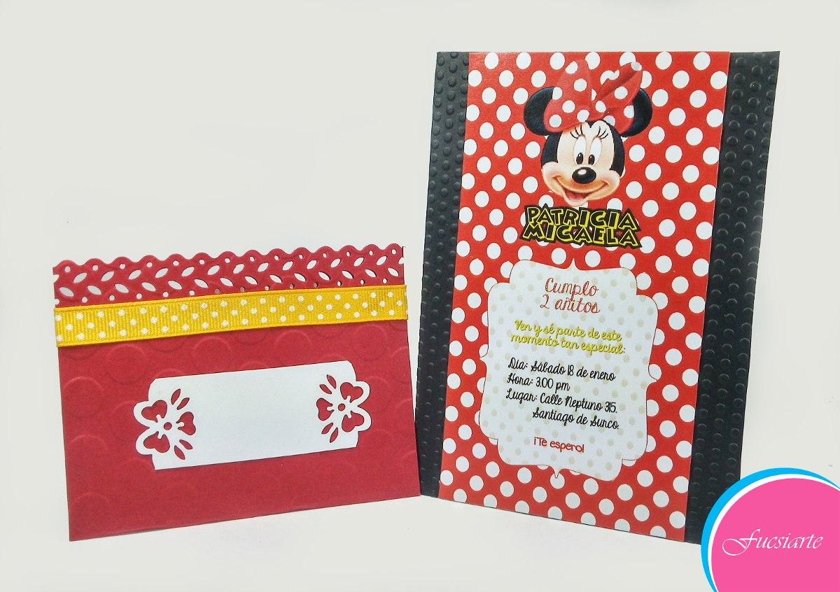 Tarjetas De Invitación Para Cumpleaños Minnie Mouse