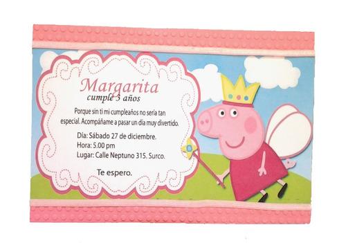 tarjetas de invitacin para cumpleaos peppa pig