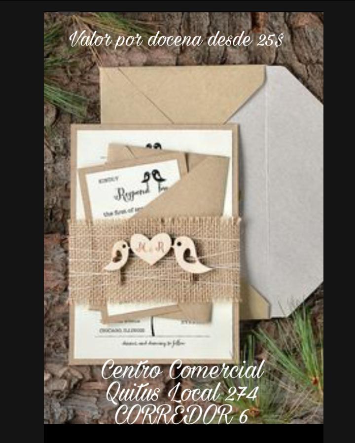 Tarjetas De Invitación Para Matrimonio En Quito