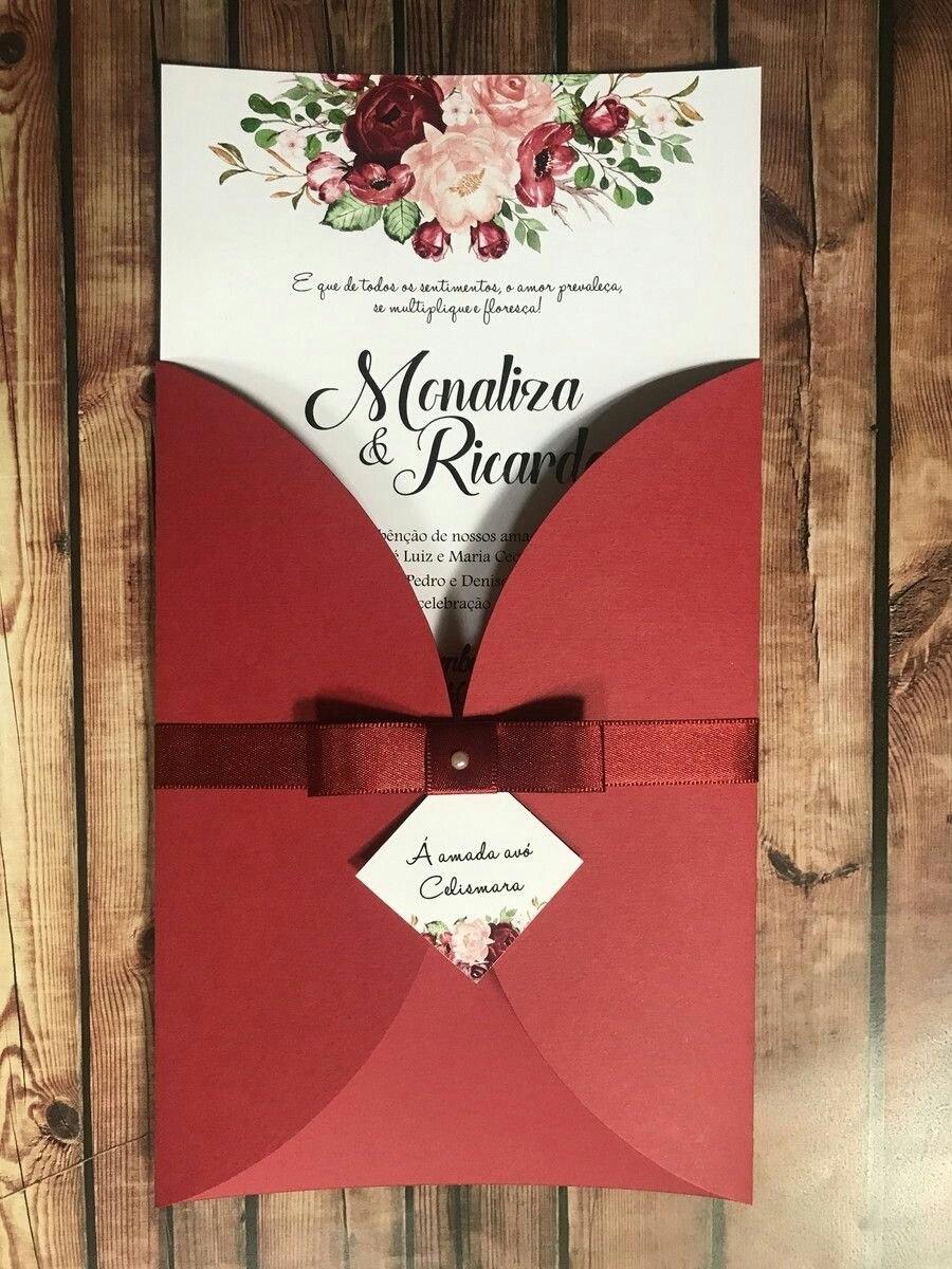 Tarjetas De Invitación Para Matrimonio Hermosas