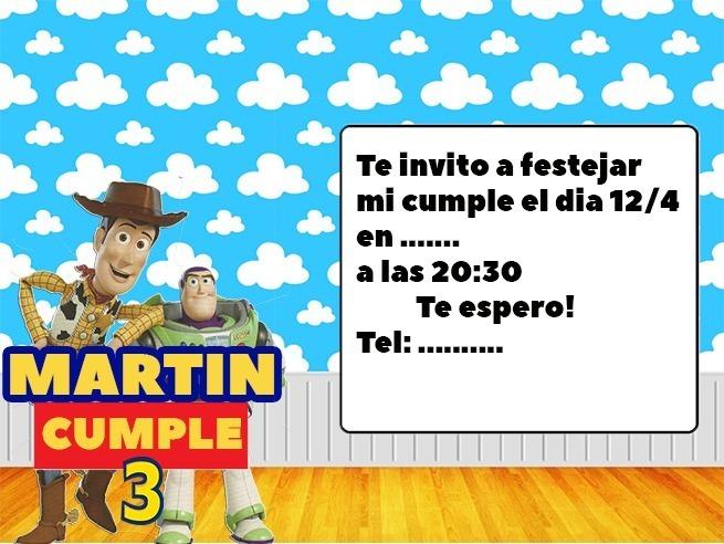 Tarjetas De Invitacion Personalizadas Toy Story 4