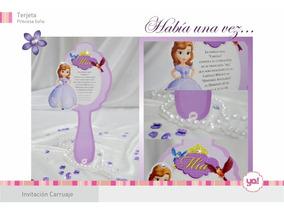 Tarjetas De Invitacion Princesa Sofia En Forma De Espejo