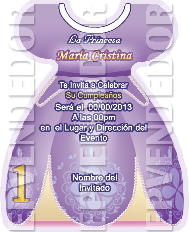 Tarjetas De Invitacion Princesa Sofia Invitaciones Epv