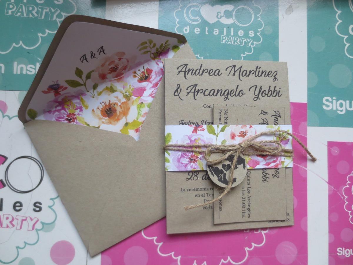 Tarjetas de invitacion vintage de kraft bodas y 15 a os for Tarjetas de 15 anos vintage