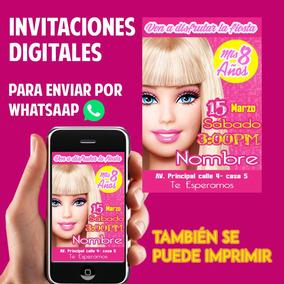 Tarjetas De Invitación Whatsaap Cumpleaños Barbie