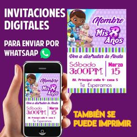 Tarjetas De Invitación Whatsaap Cumpleaños Doctora Juguete