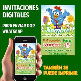 Tarjetas De Invitación Whatsaap Fiesta Gallinita Pintadita