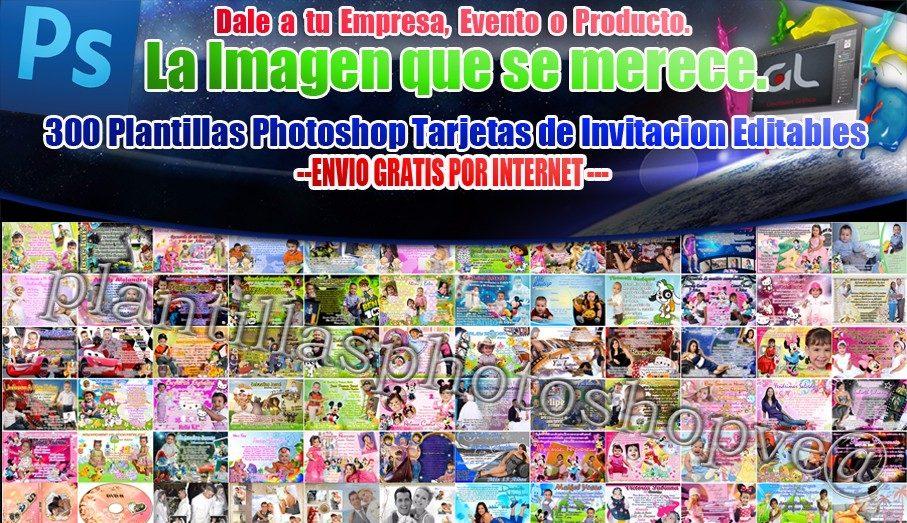 Tarjetas De Invitaciones Photoshop Editables 300 Archivos