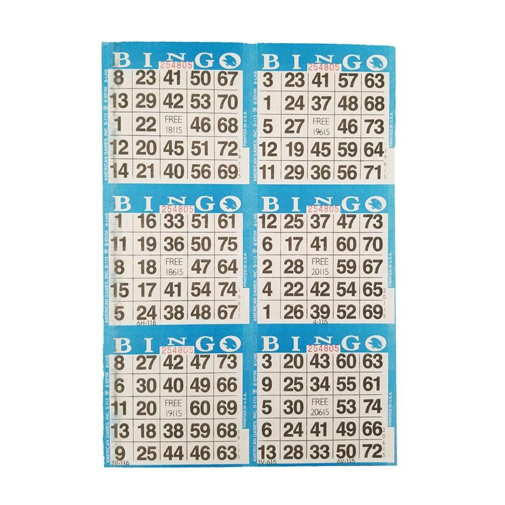 Tarjetas De Juego De Papel De Bingo De Los Juegos America