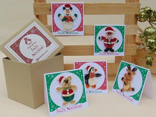 tarjetas de navidad hechas a mano para marcar regalos