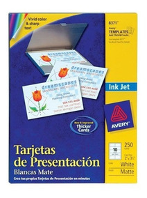 Tarjetas De Presentacion 2x3 5 Avery 8371 5 Paq Con 250 C/u