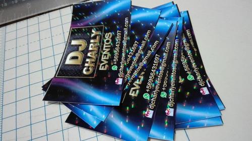 tarjetas de presentación 3d / 100 un.