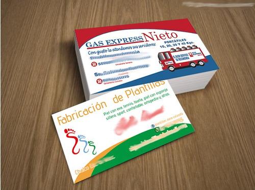 tarjetas de presentacion couche 300gr con varniz uv