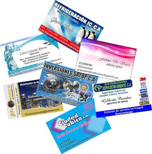 tarjetas de presentación en papel fotográfico