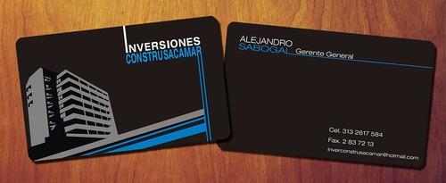 tarjetas de presentación laser  f/color glasse 350 mg