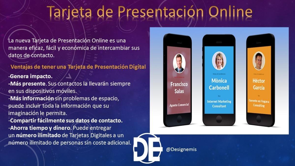 tarjetas de presentación online ilimitada 1 año bs 35 00 en