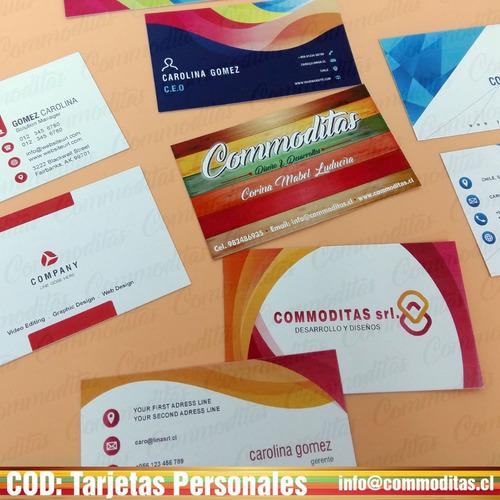 tarjetas de presentación personales