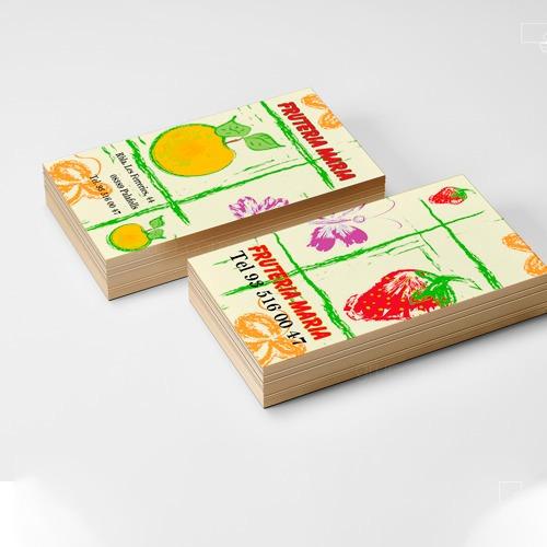 tarjetas de presentación -plastificadas-brillo , full color