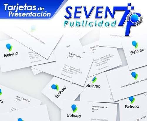 tarjetas de presentación volantes carpetas seven publicidad