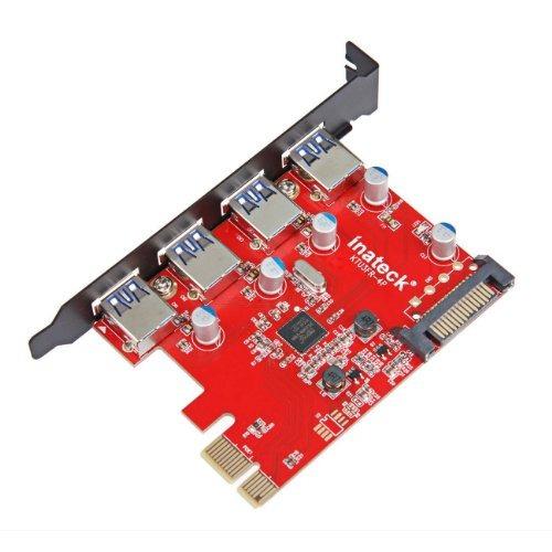 tarjetas de puerto usbinateck superspeed 4 puertos pci-e ..