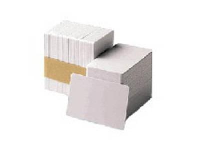 tarjetas de pvc zebra - 500, color blanco, tarjeta