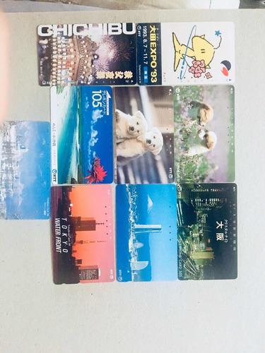 tarjetas de teléfono y micro de japón