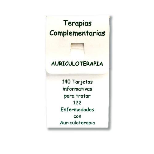 tarjetas de tratamientos con auriculoterapia  + envío gratis