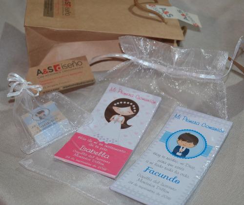tarjetas estampas primera comunión artesanales