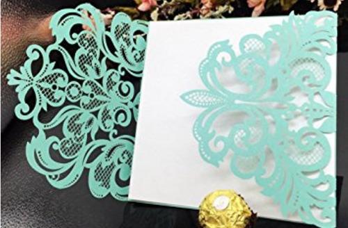 tarjetas importadas de eeuu troqueladas con laser 2docenas