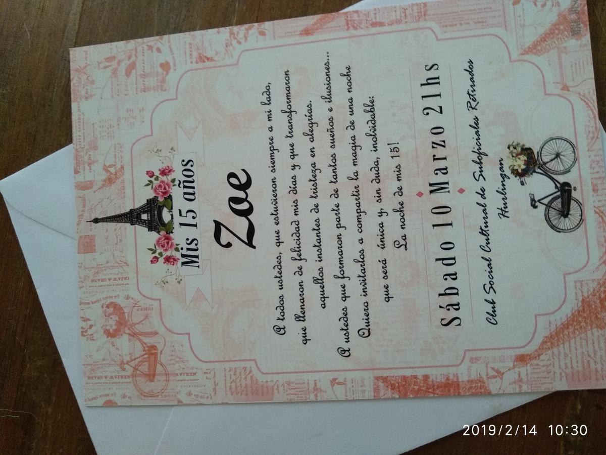 Tarjetas Invitación 15 Años Cumpleaños Eventos Casamientos