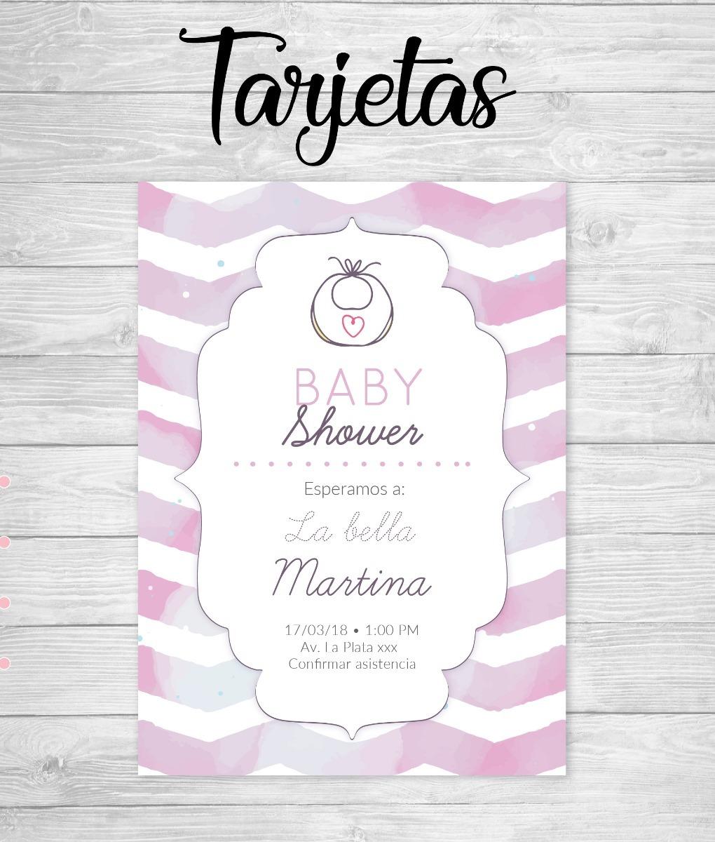 Tarjetas Invitación Baby Shower Cumpleaños Diseño Personal