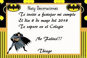 Tarjetas Invitacion Batman