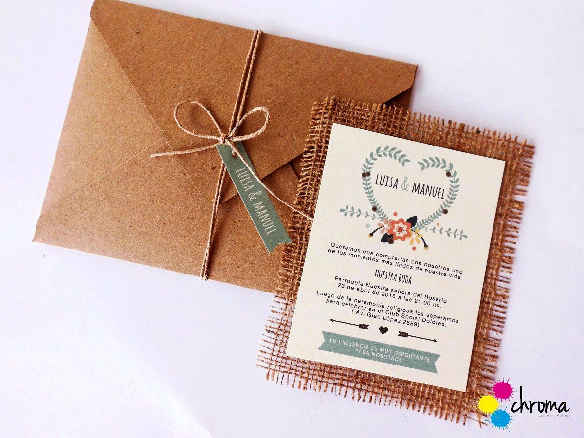 Invitaciones Para Matrimonio Rustico : Tarjetas invitación boda casamiento rustica rustico