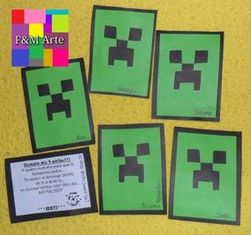Cajitas Del Minecraft Souvenirs Para Cumpleaños Infantiles
