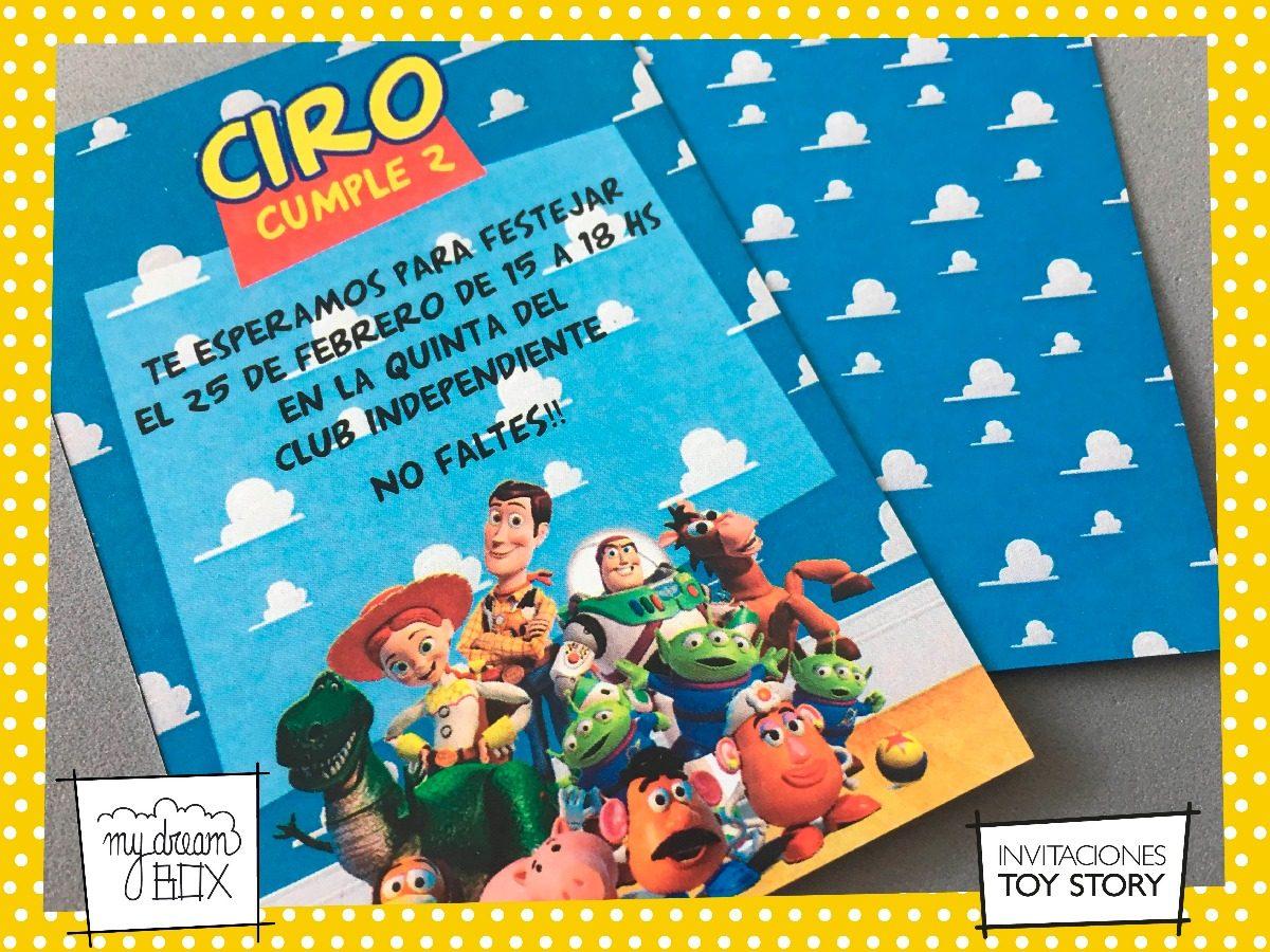 Tarjetas Invitación Cumple Infantil Evento Toy Story Buzz