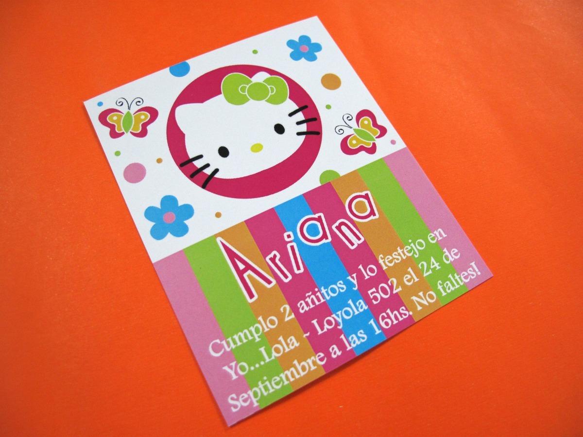 Tarjetas Invitacion Cumpleaños Infantil Hello Kitty Kity