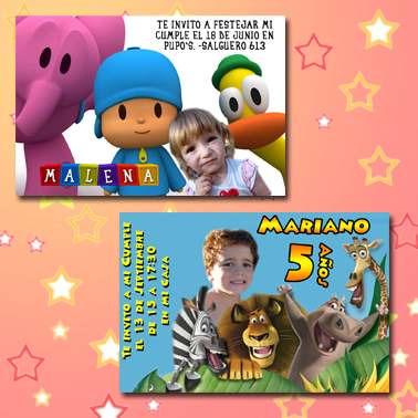 tarjetas invitación cumpleaños - souvenir con foto