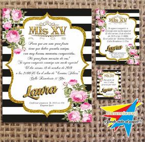Invitacion Blanco Y Negro Disfraces Y Cotillón Souvenirs