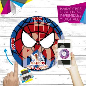 Tarjetas Invitacion Digital Imprimible Heroes Lego Spiderman