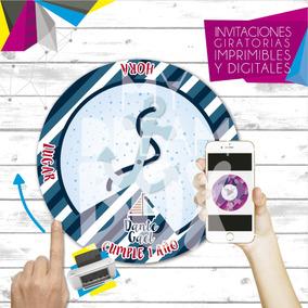 Tarjetas Invitacion Digital Imprimible Nautico Marinero Bote